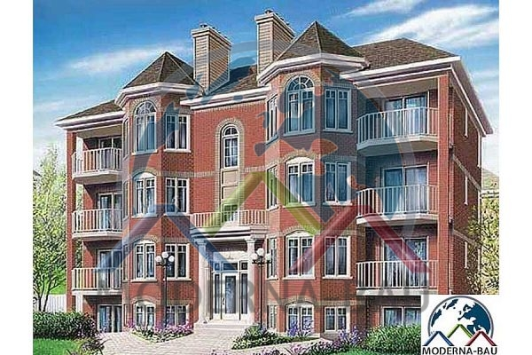 Moderna-Bau Mehrfamilienhaus KAT 1