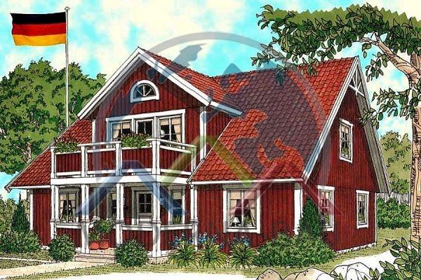 Moderna-Bau low-energy house Karby